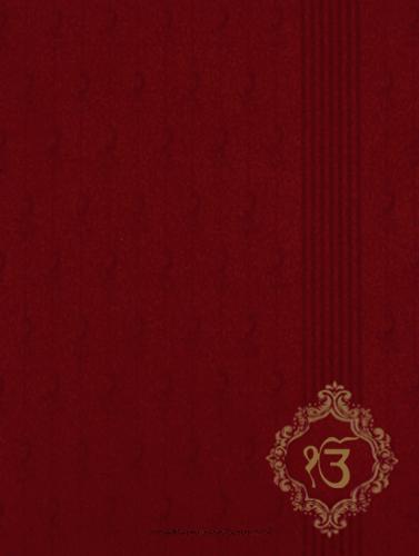 Sikh Wedding Invitations - SWC-9046RGS