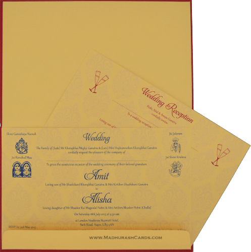 Sikh Wedding Invitations - SWC-9107RGS - 4