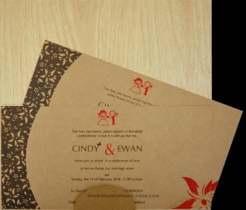 Custom Wedding Cards - CZC-9201 - 4