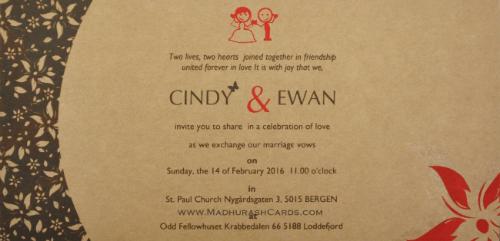 Custom Wedding Cards - CZC-9201 - 5