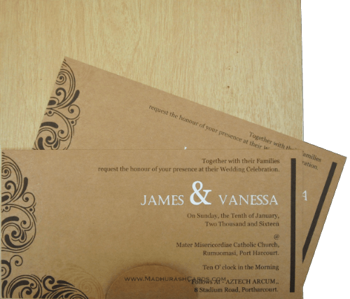 Custom Wedding Cards - CZC-9202 - 4