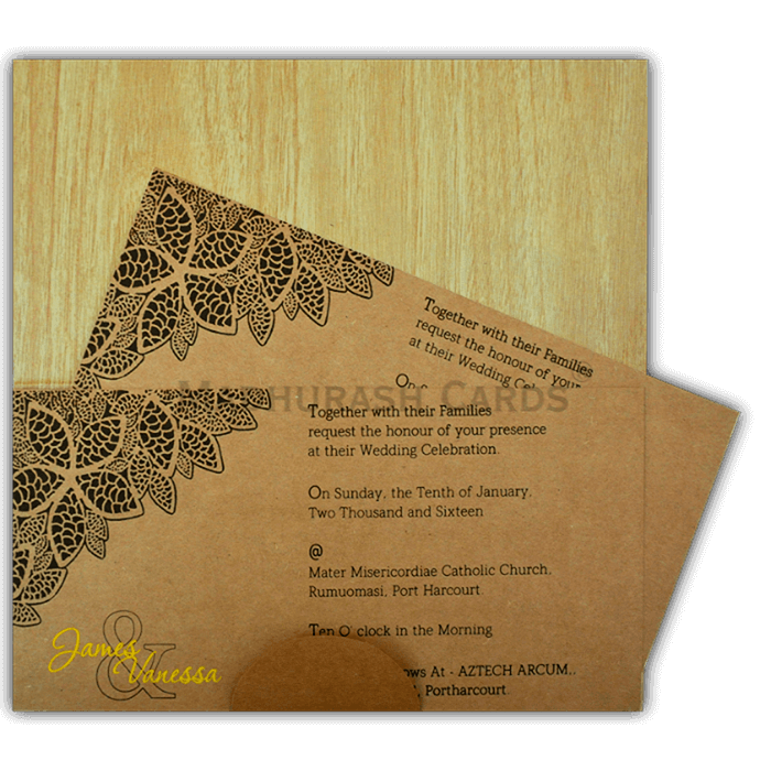 Custom Wedding Cards - CZC-9204 - 4