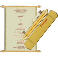Royal Scroll Invitations - SC-5009