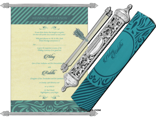 test Royal Scroll Invitations - SC-6017