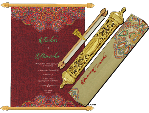 test Royal Scroll Invitations - SC-6018