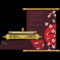 Royal Scroll Invitations - SC-6019