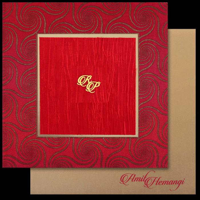 Fabric Wedding Cards - FWI-14035I