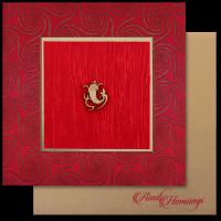 Fabric Wedding Cards - FWI-14035G