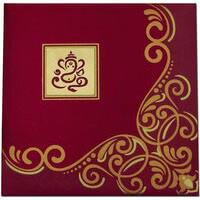 Fabric Wedding Cards - FWI-7407G
