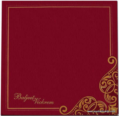 Fabric Invitations - FWI-7407G - 3