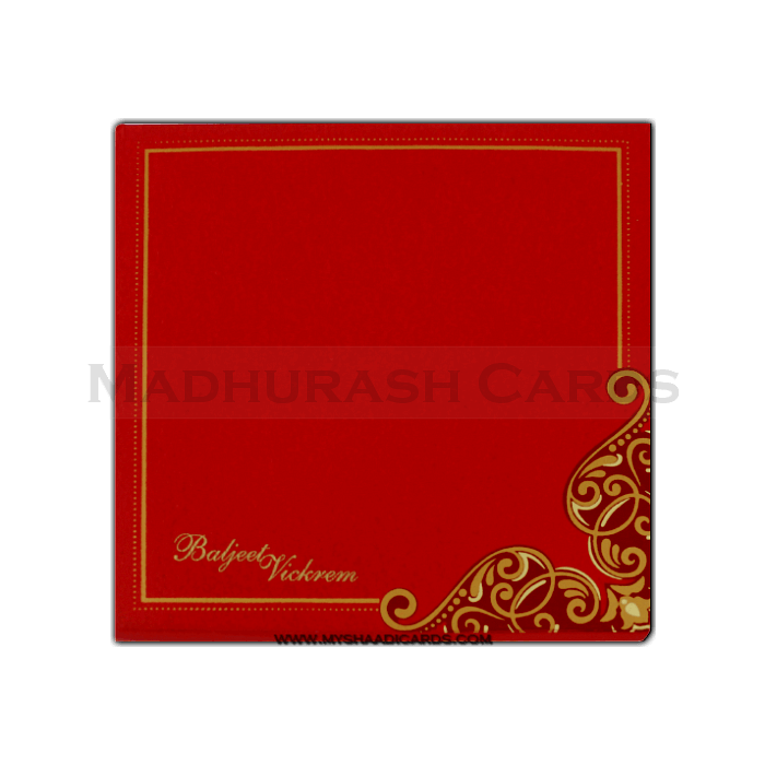 Fabric Wedding Cards - FWI-7407G - 3