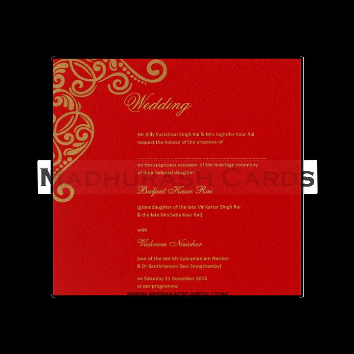 Fabric Wedding Cards - FWI-7407G - 4