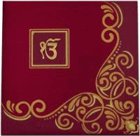 Fabric Wedding Cards - FWI-7407S