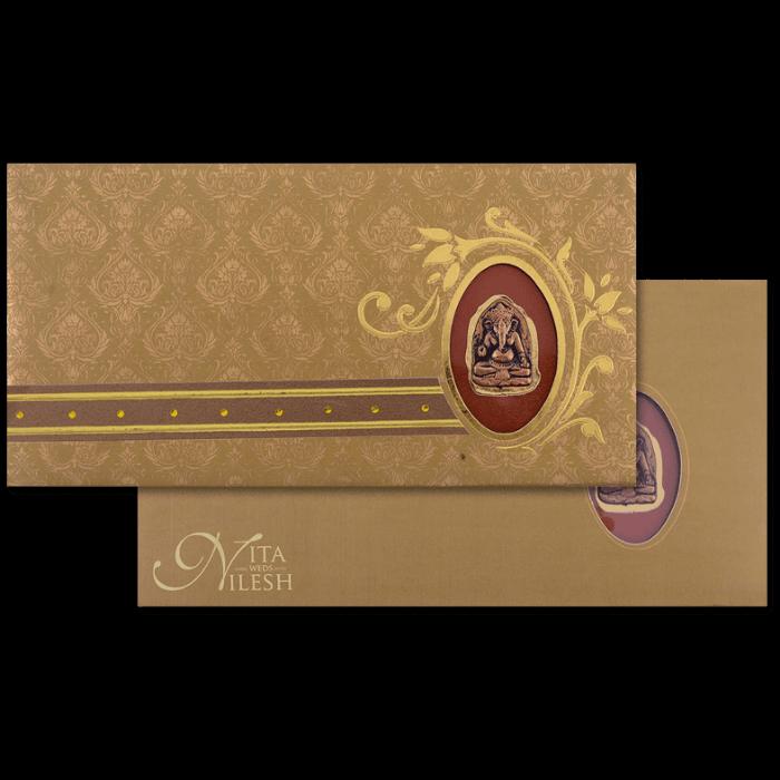test Hard Bound Wedding Cards - HBC-4019