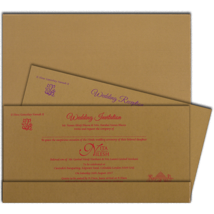 Hard Bound Wedding Cards - HBC-4019 - 3