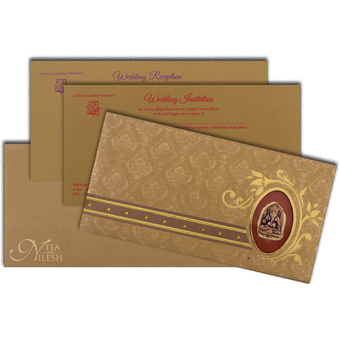 Hard Bound Wedding Cards - HBC-4019 - 5