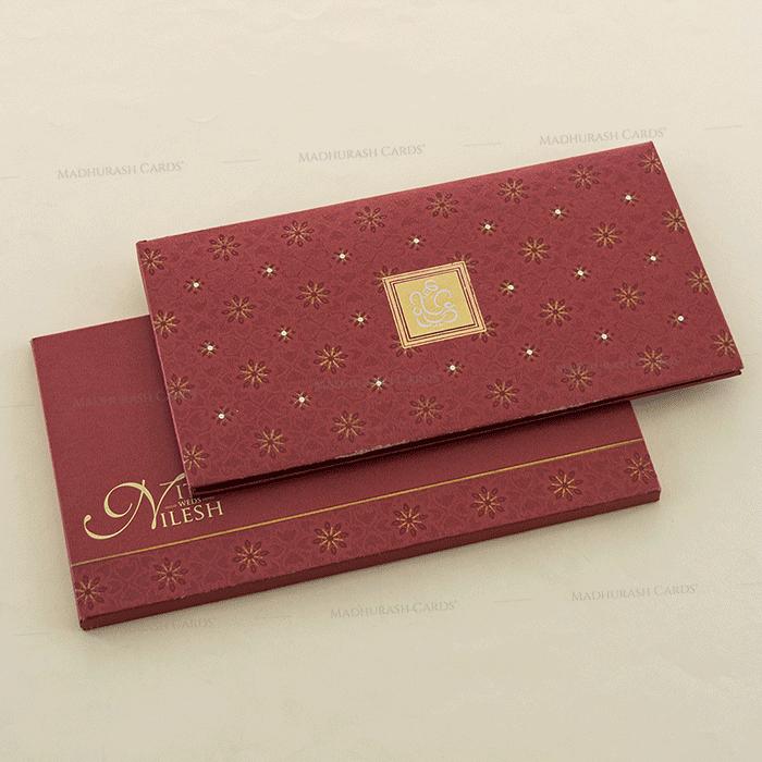 test Hard Bound Wedding Cards - HBC-4021