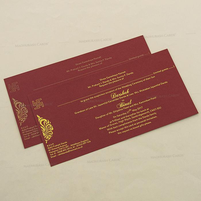 Hard Bound Wedding Cards - HBC-4021 - 4