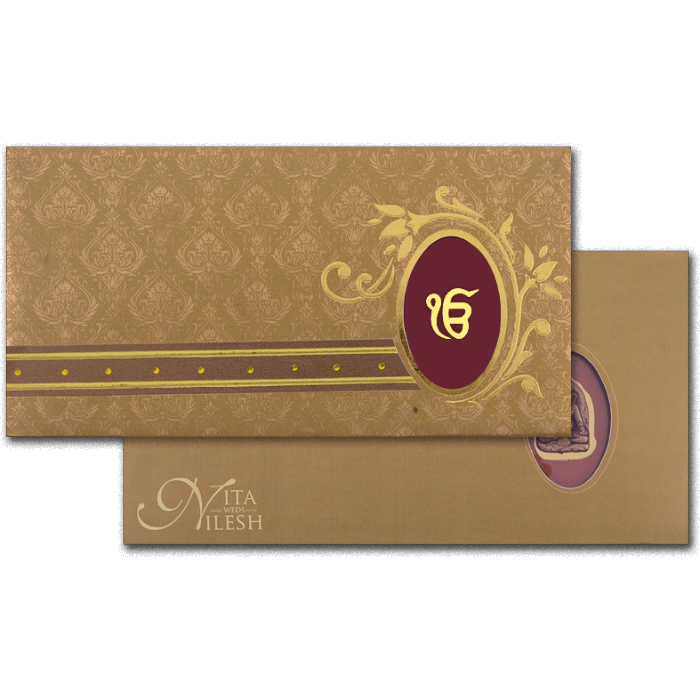 test Hard Bound Wedding Cards - HBC-4019S