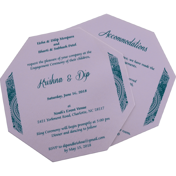 Muslim Wedding Cards - MWC-7311 - 5