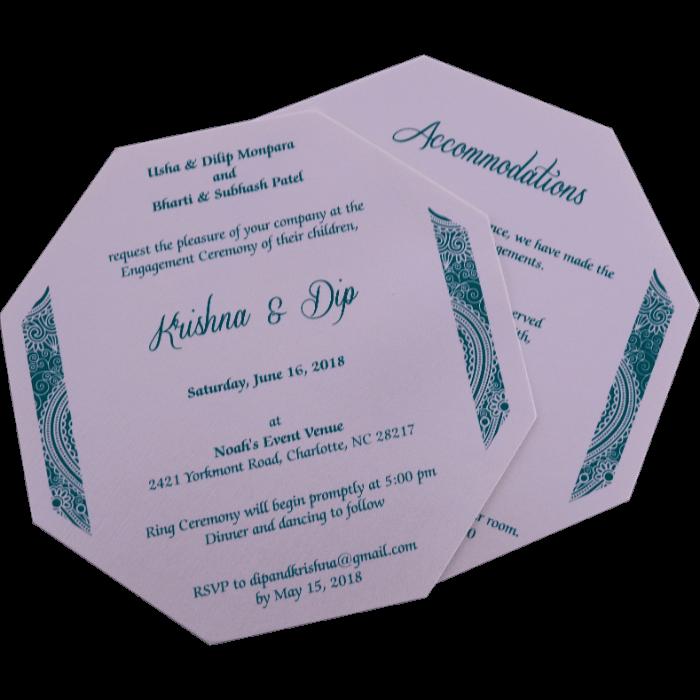 Muslim Wedding Cards - MWC-7311 - 5