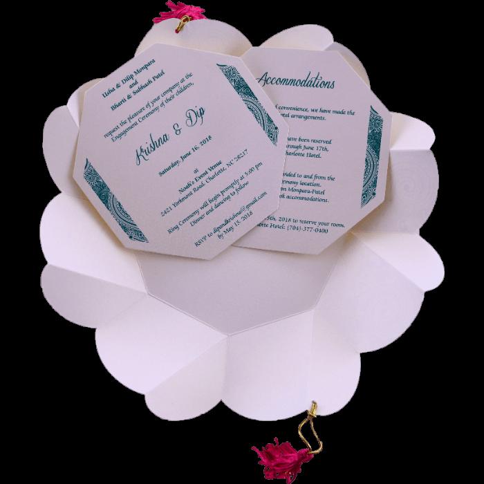 Hindu Wedding Cards - HWC-7311 - 4