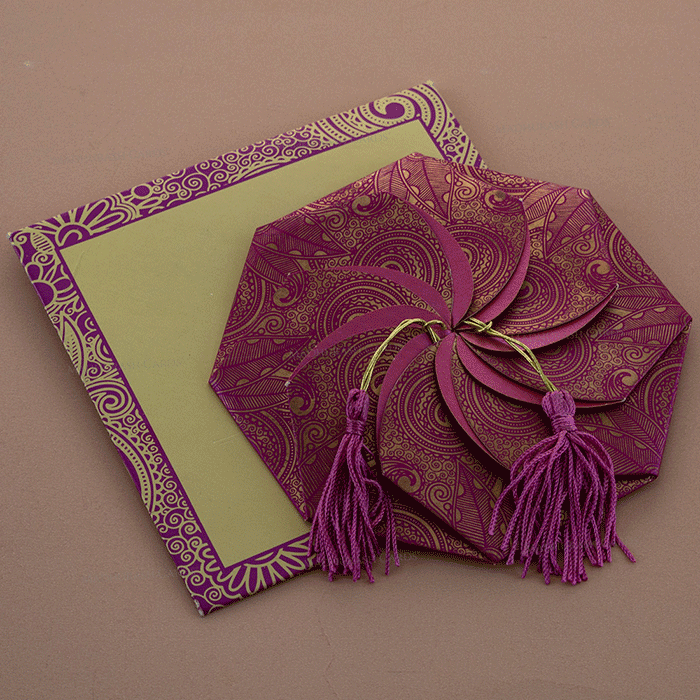 Hindu Wedding Cards - HWC-7315