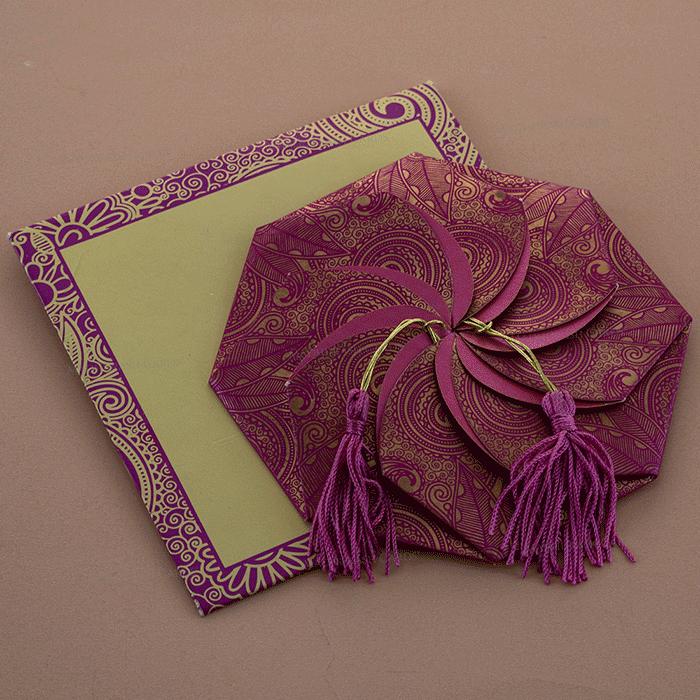 Sikh Wedding Cards - SWC-7315