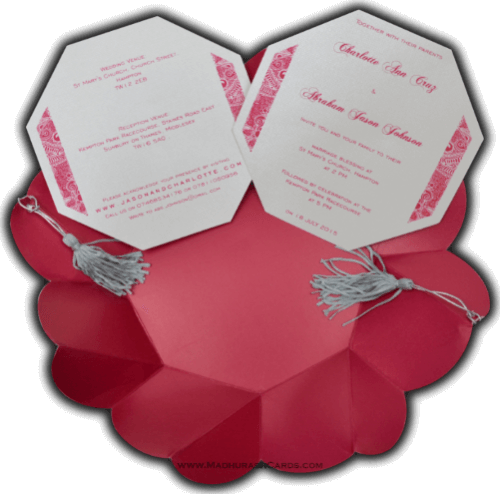 Designer Wedding Cards - DWC-7316 - 4