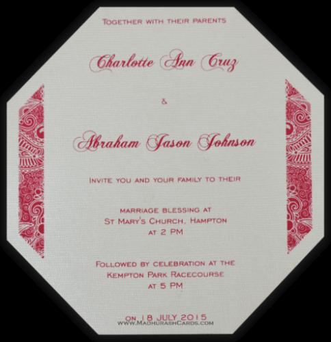 Designer Wedding Cards - DWC-7316 - 5