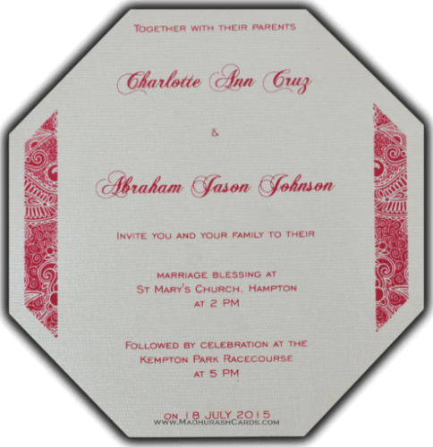 Thread Ceremony Invites - TCI-7316 - 5