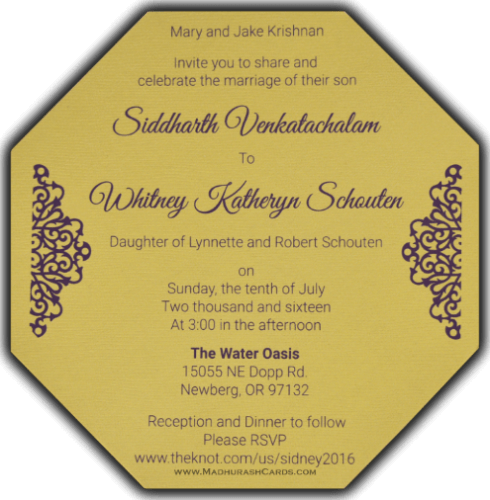 Muslim Wedding Cards - MWC-7317 - 5