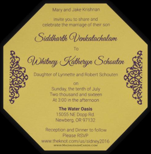 Hindu Wedding Cards - HWC-7317 - 5