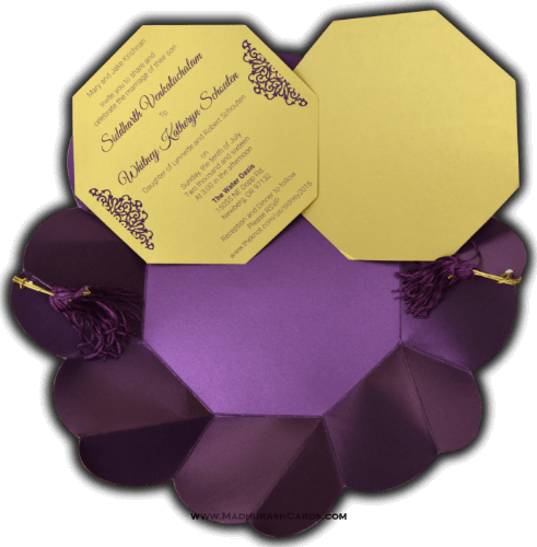 Custom Wedding Cards - CZC-7317 - 4