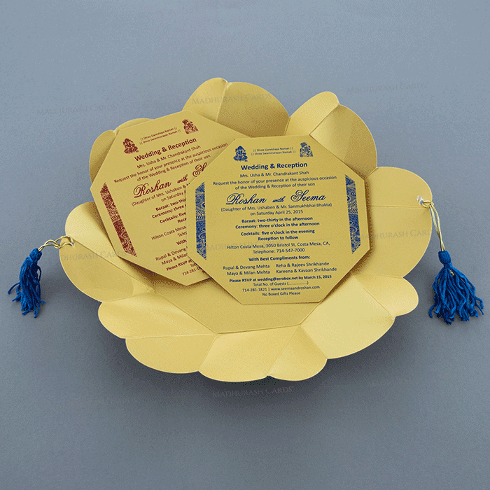 Hindu Wedding Cards - HWC-7321BG - 4