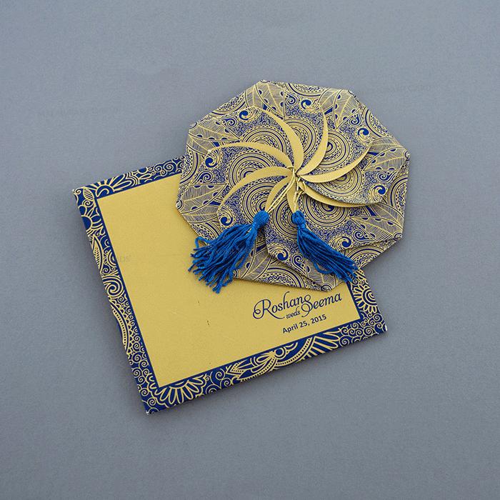 test Sikh Wedding Cards - SWC-7321BG