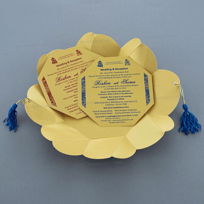 Sikh Wedding Cards - SWC-7321BG - 4