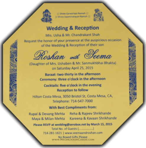 Thread Ceremony Invites - TCI-7321BG - 5