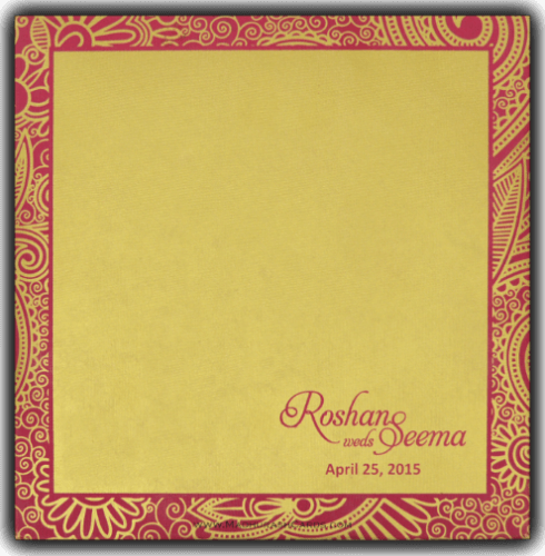 Hindu Wedding Invitations - HWC-7321PG - 3