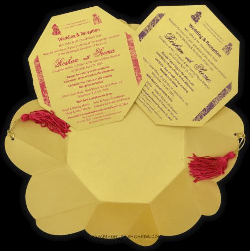 Hindu Wedding Cards - HWC-7321PG - 4