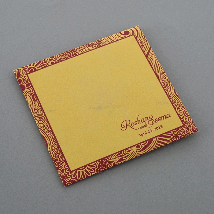 Hindu Wedding Cards - HWC-7321RG - 3