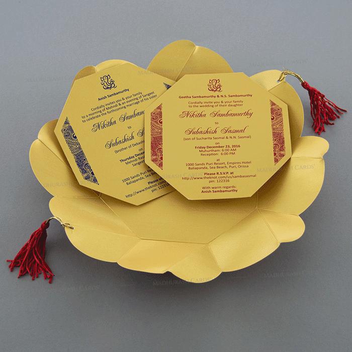 Hindu Wedding Invitations - HWC-7321RG - 4