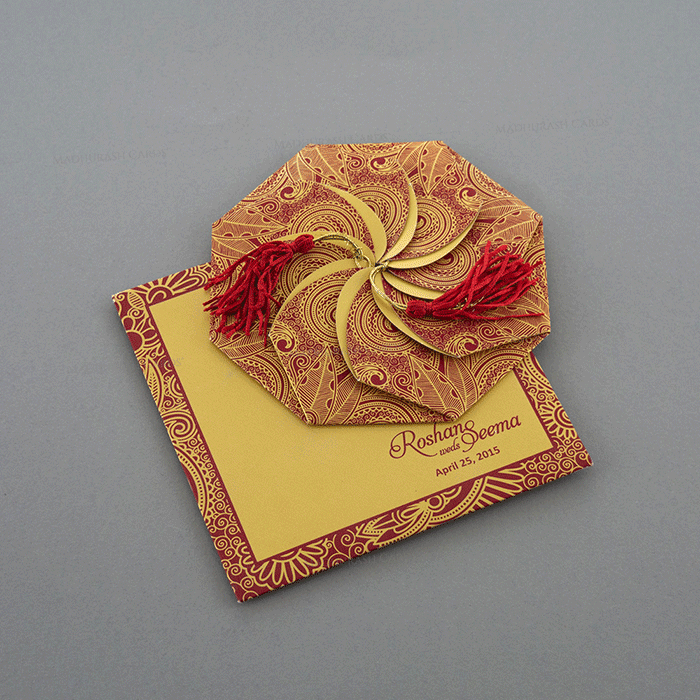 test Custom Wedding Cards - CZC-7321RG