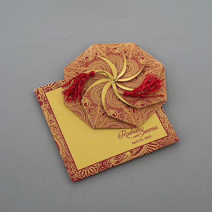 test Designer Wedding Cards - DWC-7321RG