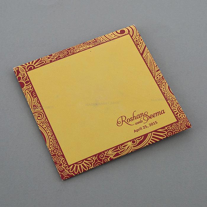 Designer Wedding Cards - DWC-7321RG - 3