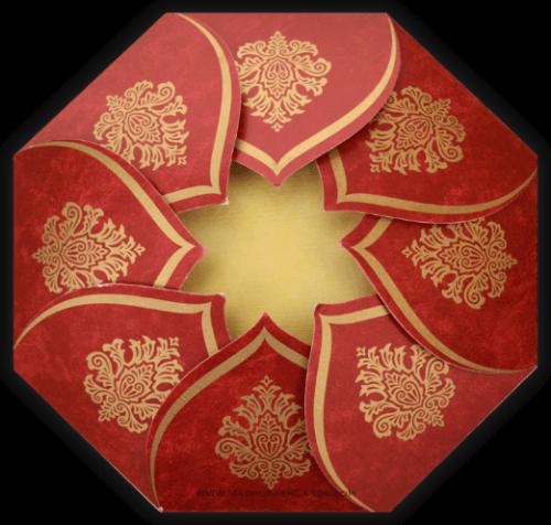 Hindu Wedding Cards - HWC-9081MG