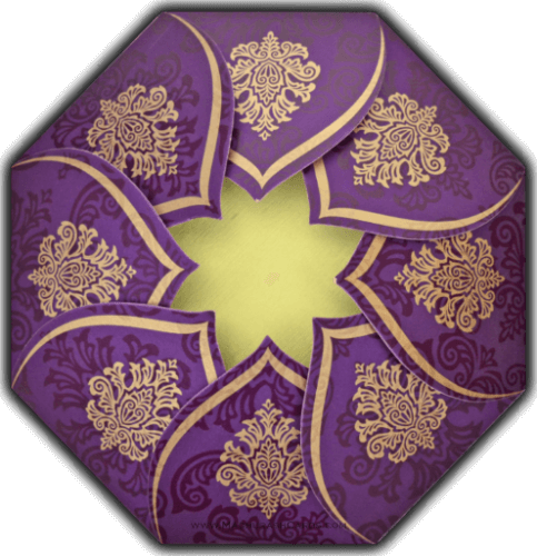 Muslim Wedding Invitations - MWC-9081VG