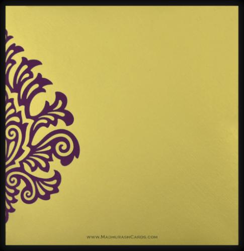 Designer Wedding Cards - DWC-9081VG - 3
