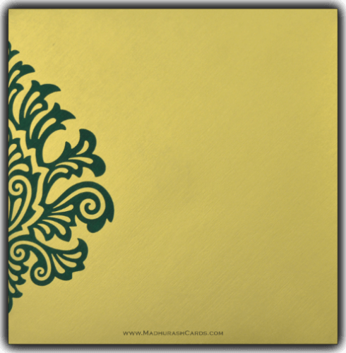 Designer Wedding Cards - DWC-9081GG - 3