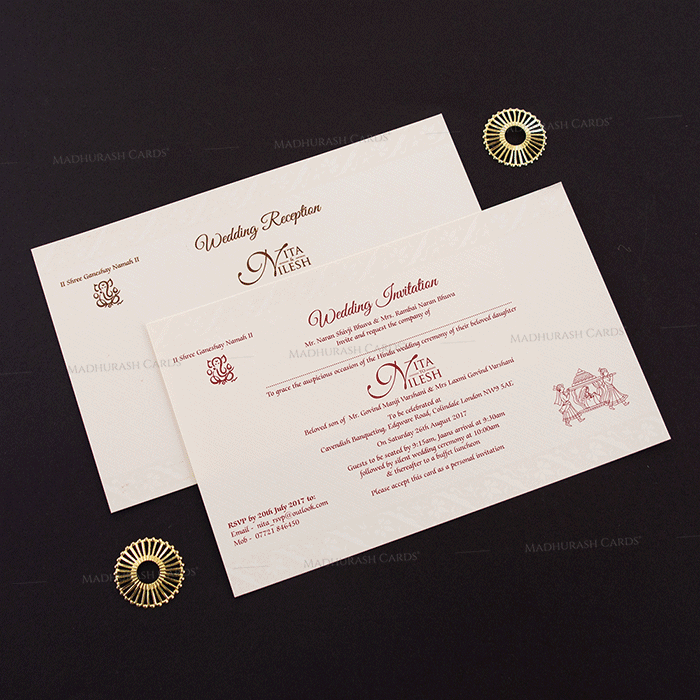 Hindu Wedding Cards - HWC-15242 - 4